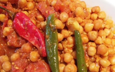 Slow-cooked chickpea curry